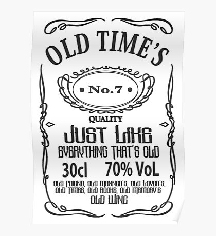 Old Times - Black Poster