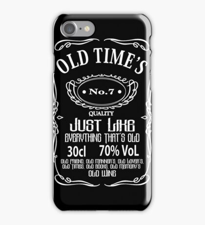 Old Times - White iPhone Case/Skin