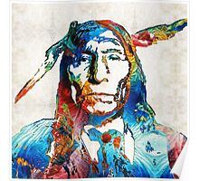 Native American Art - Warrior - By Sharon Cummings Poster