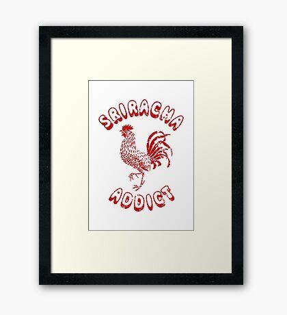 Sriracha Addict Vintage Framed Print