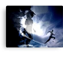ON THE RUN - sky version Canvas Print