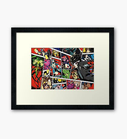 Persona 5 Art Cover Framed Print