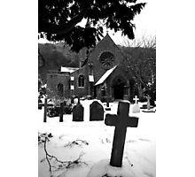 Church & Gravestones Photographic Print