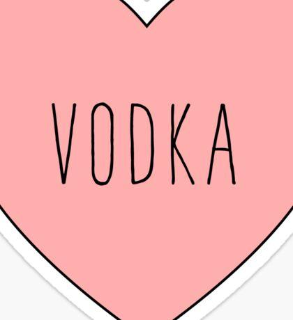 I Love Vodka Heart Black Sticker