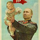 Baby Trump and a Comrade Putin by JoeG69