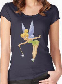 Tinkerbell in Pixel Art Women's Fitted Scoop T-Shirt