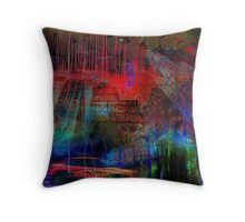 Live in an abstract city Throw Pillow