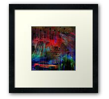 Live in an abstract city Framed Print