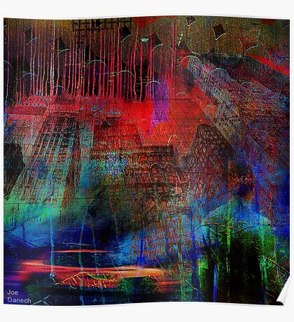 Live in an abstract city Poster
