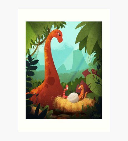 Dino Family Art Print