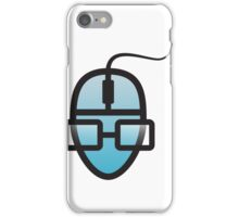 Human face as PC mouse iPhone Case/Skin