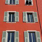 Three Floors Of Windows by phil decocco