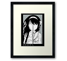 Ready for Disappearance? Framed Print