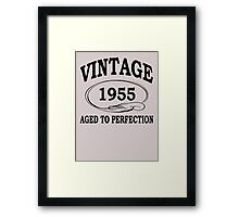 Vintage 1955 Aged To Perfection Framed Print