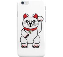 Maneki Neko lucky cat iPhone Case/Skin