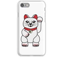Maneki Neko lucky cat iPhone Case/Skin