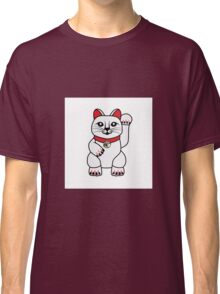 Maneki Neko lucky cat Classic T-Shirt
