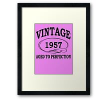Vintage 1957 Aged To Perfection Framed Print