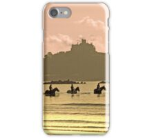Horses at St Michael's Mount iPhone Case/Skin
