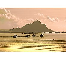Horses at St Michael's Mount Photographic Print