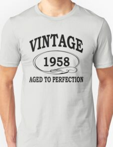 Vintage 1958 Aged To Perfection T-Shirt