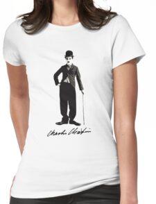 Charlie Chaplin - Autograph Womens Fitted T-Shirt