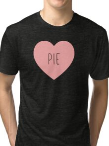 I Love Pie Heart Black Tri-blend T-Shirt