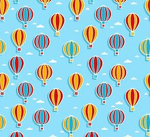 Hot Air Balloons by PatternInk