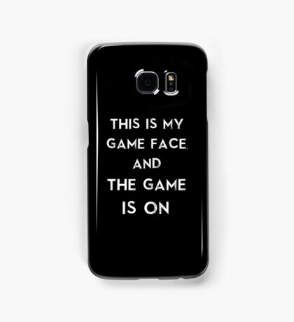 Sherlock This is my game face Samsung Galaxy Case/Skin