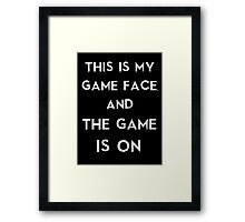 Sherlock This is my game face Framed Print