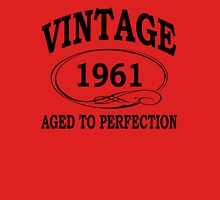 Vintage 1961 Aged To Perfection Womens Fitted T-Shirt