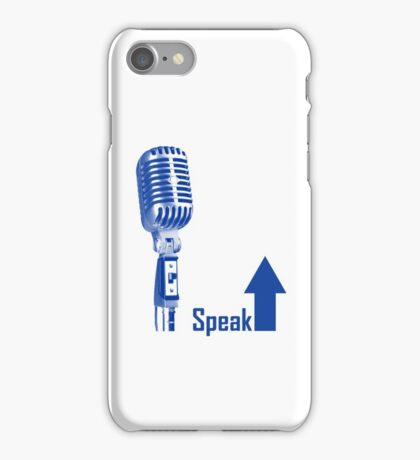 Speak Up Graphic iPhone Case/Skin