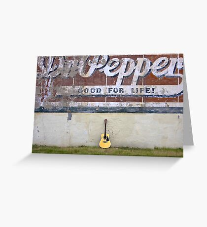 Guitars About Town - Dr Pepper Greeting Card