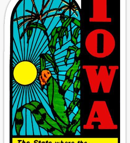 Iowa IA State Tall Corn Vintage Travel Decal Sticker