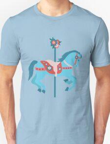Blue Carousel Horse Unisex T-Shirt