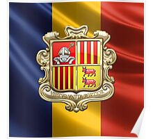 Andorra - Coat of Arms  Poster