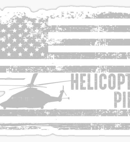 American Helicopter Pilot United States  Sticker