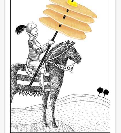 Knight of Pancakes Breakfast Tarot Sticker