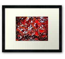 Red Chakra Framed Print