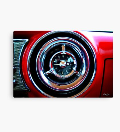 Pontiac 1954 Clock Canvas Print