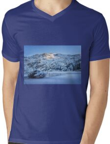 Bright and Early Winter Snow photograph Mens V-Neck T-Shirt