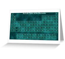 Glow Effect Periodic Table (118 Elements) Greeting Card