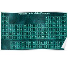 Glow Effect Periodic Table (118 Elements) Poster