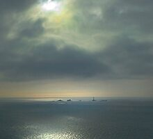 Longships Lighthouse from Sennen Cove by George Crawford