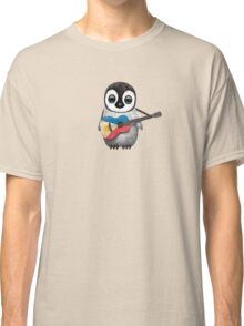 Baby Penguin Playing Filipino Flag Guitar Classic T-Shirt