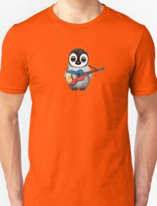 Baby Penguin Playing Filipino Flag Guitar Unisex T-Shirt