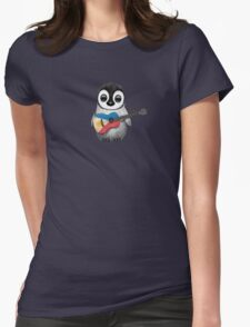 Baby Penguin Playing Filipino Flag Guitar Womens Fitted T-Shirt