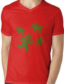 Cactuar print  Mens V-Neck T-Shirt