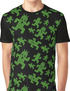 Cactuar print  Graphic T-Shirt