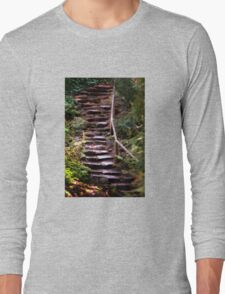 Old Wet Stone Steps Long Sleeve T-Shirt